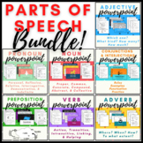 Basic Parts of Speech Bundle with Fill-in-the-Blank Student Notes