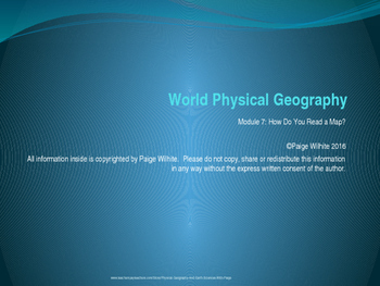 Basic Parts of a Map Physical Geography Lesson Powerpoint