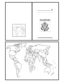 Printable passport templates teaching resources teachers pay teachers basic passport template basic passport template maxwellsz