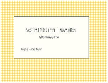 Basic Pattern Matching ABA/Autism