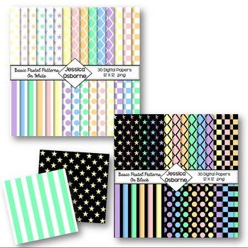 Basic Patterns Digital Paper Bundle