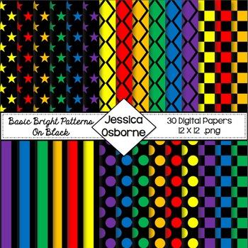 Basic Bright on Black Digital Paper