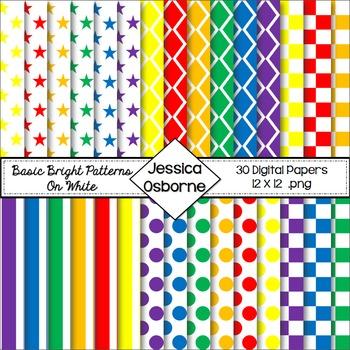 Basic Bright on White Digital Paper