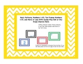 Basic Patterns, Numbers 1-20, Ten Frames, and More or Less Play Doh or Dry