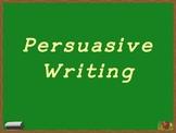 Basic Persuasive Writing