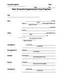 Basic Persuasive/Argumentative Essay Organizer