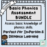 Basic Phonics Assessment with Distance Learning *UPDATED*  ~Tutoring~ Homeschool