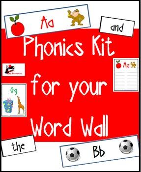 Basic Phonics Kit for Your Word Wall