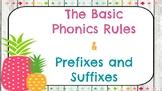 Basic Phonics Rules Posters (Pineapple Theme)