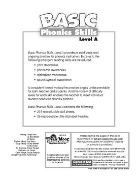 Basic Phonics Skills, Level A