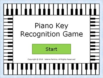 Basic Piano Keys Recognition Interactive Game