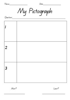 Pictograph Template Worksheets Teaching Resources Tpt