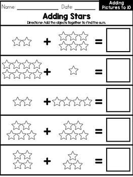 Basic Picture Addition Workbook