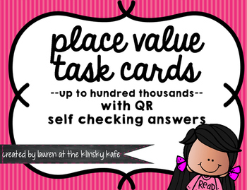 Basic Place Value QR Task Cards