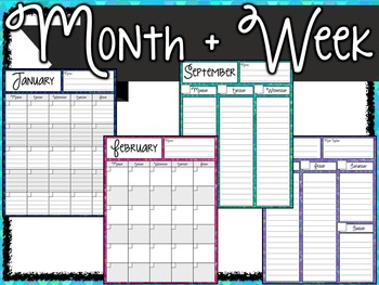 Basic Planner Pack- 150 Pages!