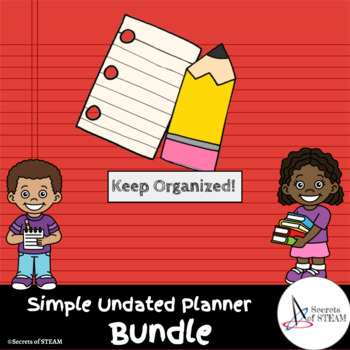 Basic Planner - Undated - Ready for EVERY School Year