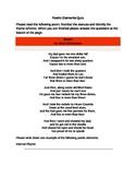 Basic Poetic Elements Quiz