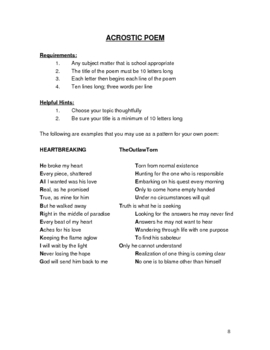 Basic Poetry Creation Unit