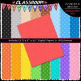Basic Polka Dots 1 - 17 CU 8.5x11 Digital Papers