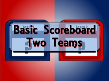 Basic PowerPoint Scoreboard - 2 Teams