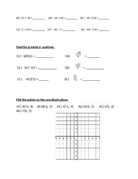 Basic Pre-Algebra Test