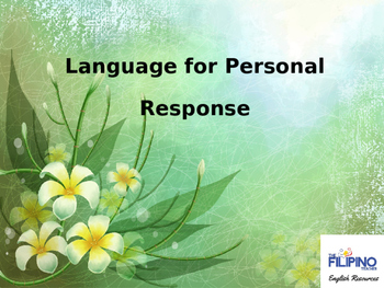 Basic Presentation on Language for Personal Responses