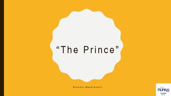 Basic Presentation on Literary Work: The Prince