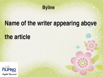Basic Presentation on Parts of a Newspaper