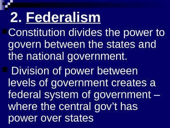 Basic Priciples of the U.S. Constitution