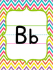 Basic Print Alphabet Chart {Chevron Brights}