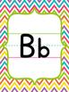 Basic Print Alphabet Chart {Chevron Brights}