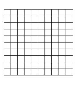 Basic Printable Hundred Board with Tiles