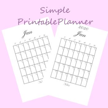 Basic Printable Planner