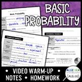 Basic Probability Algebra 2 Lesson Distance Learning