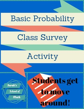 Basic Probability Class Survey Activity