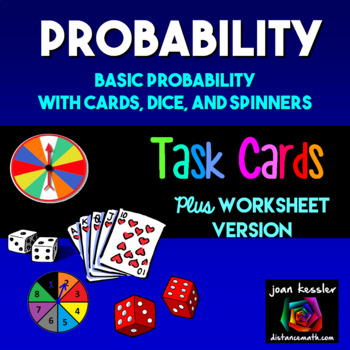 Algebra Statistics Probability Task Cards