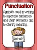Basic Punctuation Posters {Circus / Movie Stripes}