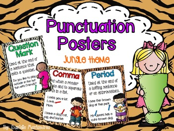 Basic Punctuation Posters {Jungle Theme}
