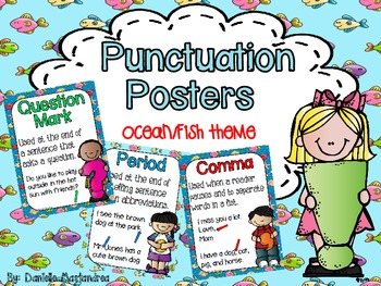 Basic Punctuation Posters {Ocean / Fish Theme}