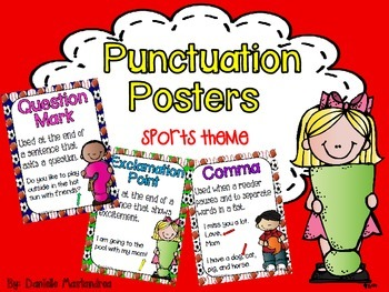 Basic Punctuation Posters {Sports Theme}