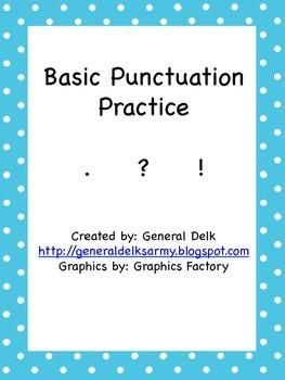 Basic Punctuation Practice