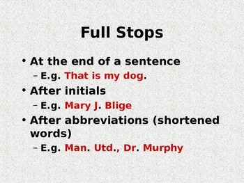 Basic Punctuation - Presentation
