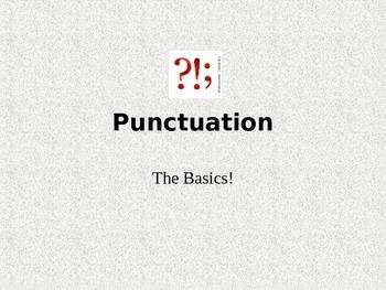 Basic Punctuation - Presentation