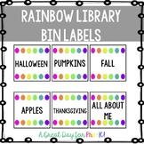 Basic Rainbow Library Bin Labels - Preschool, Prek, Kinder