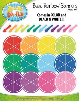 Basic Rainbow Spinners Clipart Mega Set — Over 40 Graphics!