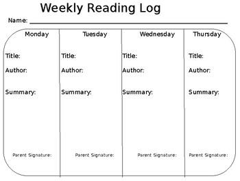 Basic Reading Logs