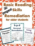Basic Reading Skills Remediation for older students - 30 Printables