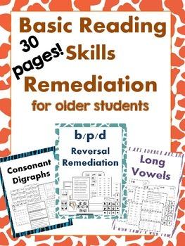 Basic Reading Skills Remediation for older students - 30 P