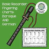 Basic Recorder Fingering Charts: Baroque & German