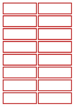Basic Red Flashcard Template
